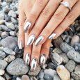 mikrotrend metaliczne paznokcie